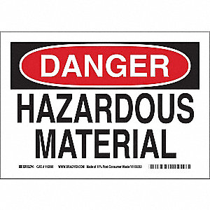 Danger Sign,7inHx10inW,Eco-Friendly Papr