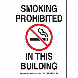 No Smoking Sign,14inHx10inW,Eco-Frnd Ppr
