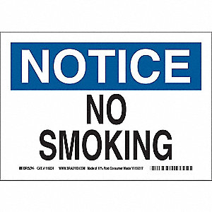 No Smoking Sign,Violation,10x14