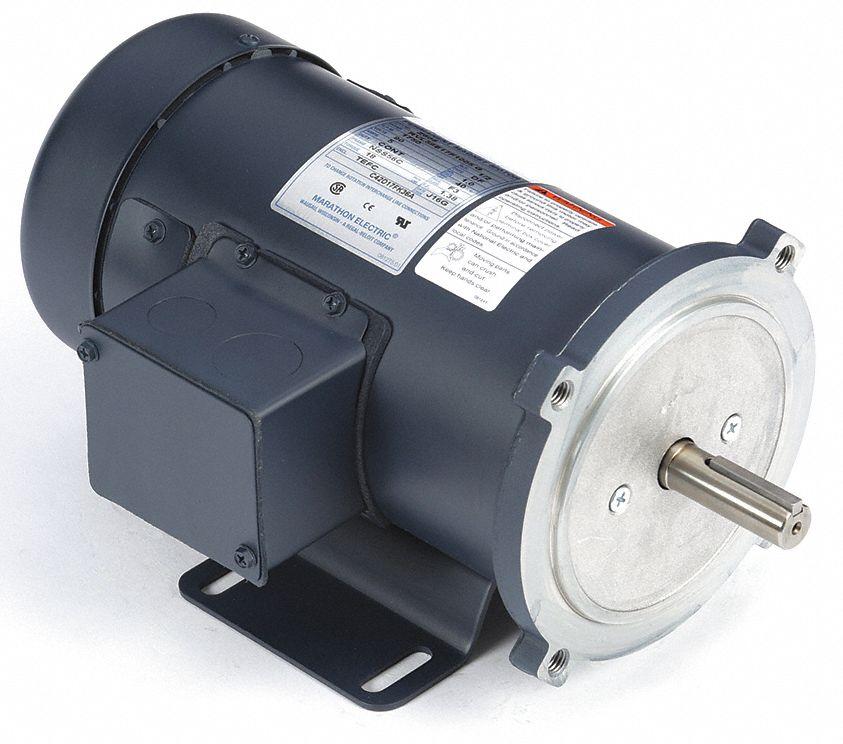 DC MOTOR PERMANENT MAGNET 1//2 HP 0.5 HP 56C 24V 1750RPM TEFC