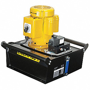Electric Hydraulic Pump with Remote, 3 Way, 2 Position, Dump Control Valve