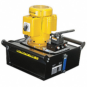 Electric Hydraulic Pump with Manual, 4 Way, 3 Position, Tandem Center Control Valve
