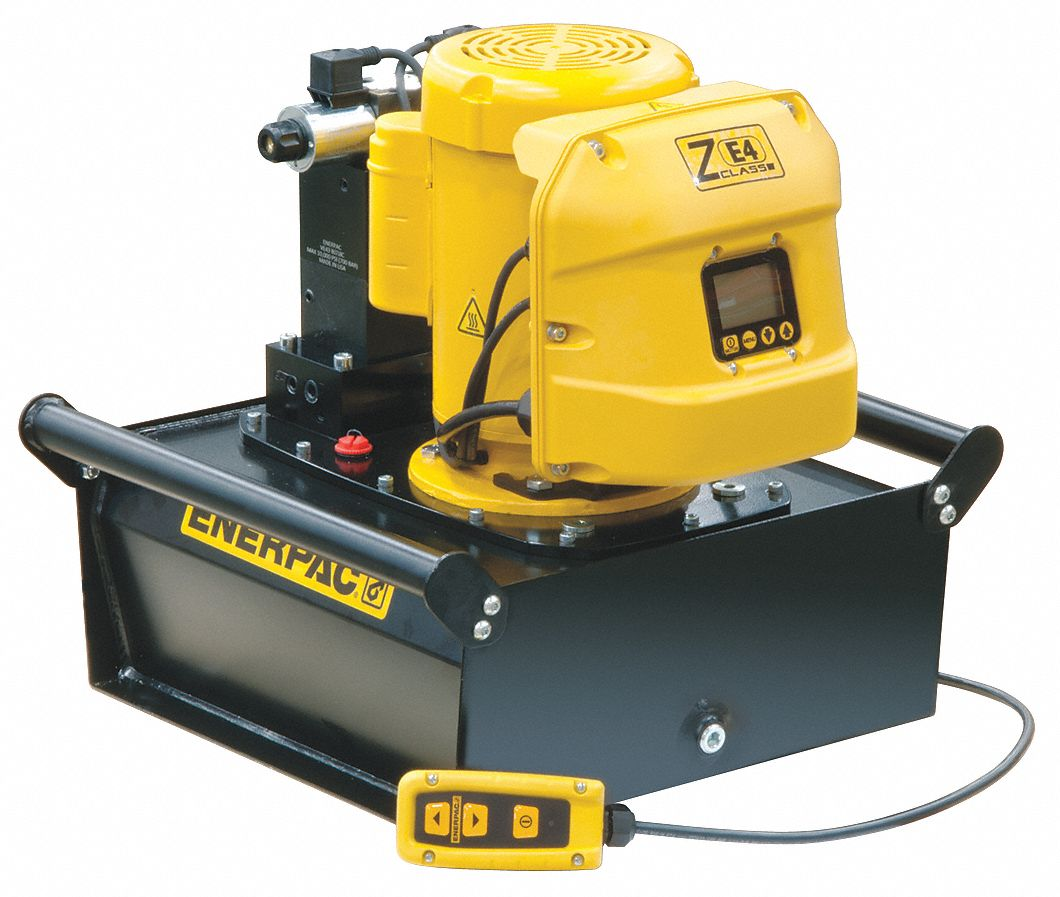 ENERPAC Electric Hydraulic Pump with Remote, 4 Way, 3 Position, Tandem  Center Control Valve - 26VY86|ZE3420SB - Grainger