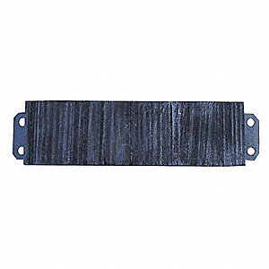 "Rectangular Rubber Dock Bumper, 6""H x 26""W x 4-1/2"""