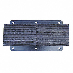 Dock Bumper,24x6x13 In.,Rubber