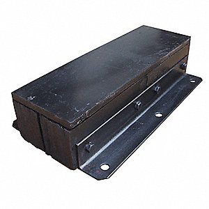 "Rectangular Rubber Dock Bumper, 24""H x 13""W x 5-1/2"""