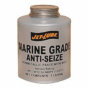 Metal-Free Marine Grade Anti-Seize, -65°F to 1800°F, 16 oz., Gray