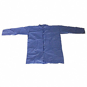 Disp Lab Coat,PP, Blue,2XL,PK25