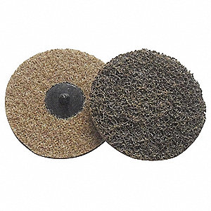 "4"" Non-Woven Quick Change Disc, TR Roll-On/Off Type 3, Coarse, Aluminum Oxide, 1 EA"