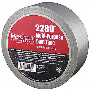 "60 yd. x 1.88"" Polyethylene Coated Cloth Duct Tape, Silver"