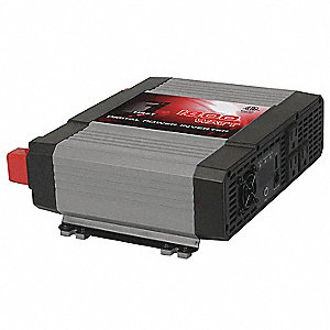 Inverter,115VAC,12VDC,1800W,3-Outlet