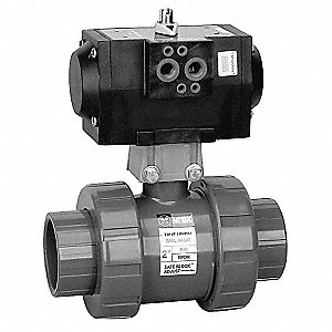 PNEU ACTUATED BALL VALVE,1 IN,FPM
