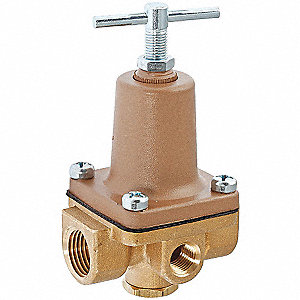 WATER PRESS REG VALVE,1/4IN,10-125P