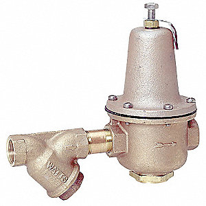"LF223S Series 11-15/16""L Lead Free Brass Water Pressure Regulator Valve, 25 to 75 psi"