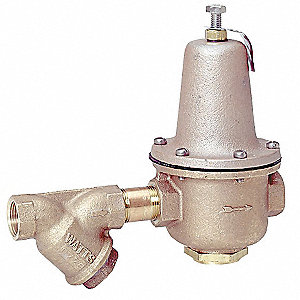 "LF223S Series 16-3/4""L Lead Free Brass Water Pressure Regulator Valve, 25 to 75 psi"