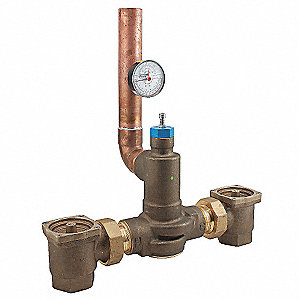 "2"" NPT Inlet Type Mixing Valve, Lead-Free Brass, 201 gpm at 45 psi"