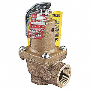 Bronze Safety Relief Valve, FNPT Inlet Type, FNPT Outlet Type