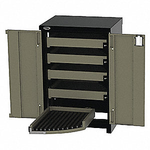 "Black Light Duty Side Cabinet, 45-1/4"" H X 30-1/4"" W X 24-1/4"" X D, Number of Drawers: 5"