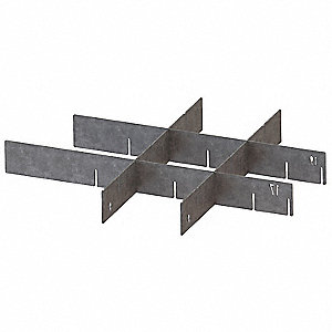 "Silver Drawer Divider Set, Stainless Steel, 14-1/2"" Length, 1/16"" Width"