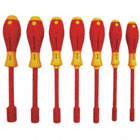INSULATED NUT DRIVER SET,1000V,RND,
