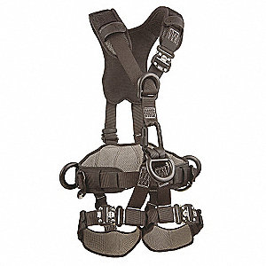 Full Body Harness,XL,420 lb.,Black
