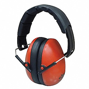 21dB Ear Muffs, Red&#x3b; ANSI S12.42 (S3.19)