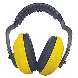 19dB Over-the-Head Ear Muffs, Yellow