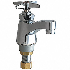 Cast Brass Bathroom Faucet, Cross Handle Type, No. of Handles: 1
