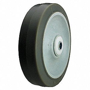 "4"" Caster Wheel, 275 lb. Load Rating, Wheel Width 1-1/2"", Thermoplastic Rubber, Fits Axle Dia. 3/8"""