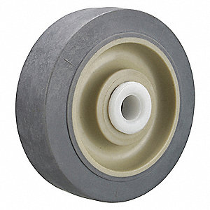 "3-1/2"" Caster Wheel, 250 lb. Load Rating, Wheel Width 1-1/4"", Thermoplastic Rubber"