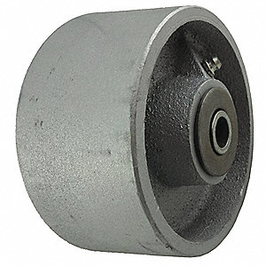 "4"" Caster Wheel, 1000 lb. Load Rating, Wheel Width 2"", Cast Iron, Fits Axle Dia. 1/2"", 3/4"""