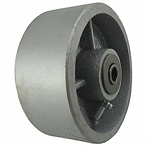 "5"" Caster Wheel, 1300 lb. Load Rating, Wheel Width 2"", Cast Iron, Fits Axle Dia. 1/2"""