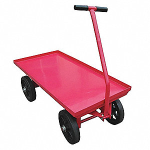 "Wagon Truck, 3500 lb. Load Capacity, Mold-on Rubber Wheel Type, 12"" Wheel Diameter"