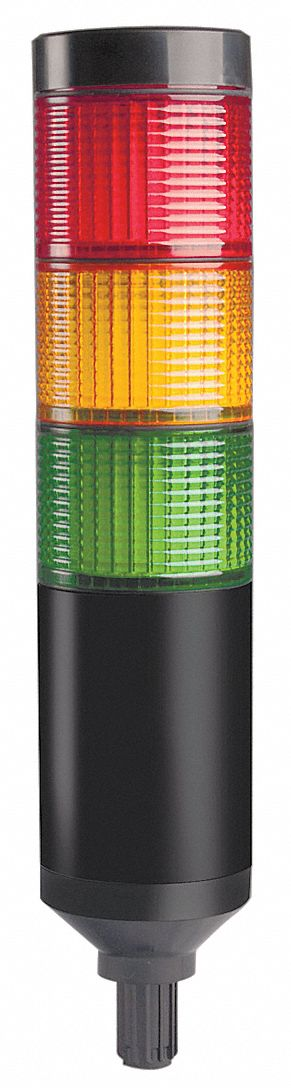 Tower Light LED Assembly, Support Tube Mountable, 3 Light, Flashing, Steady Light Modes