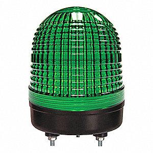 WARNING LIGHT GREEN LED STUD
