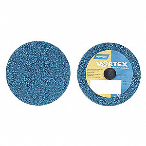 "2"" Deburring and Blending Non-Woven Disc, 1/4"" W, TR Mounting Size, Medium Aluminum Oxide"