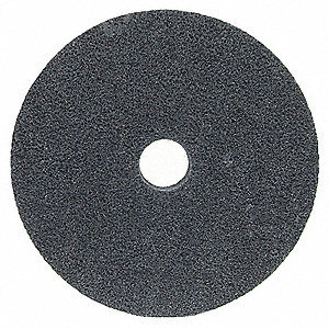 "6"" Light Deburring and Blending Unified Wheel, 1"" W, 1"" Mounting Size, Fine Silicon Carbide"