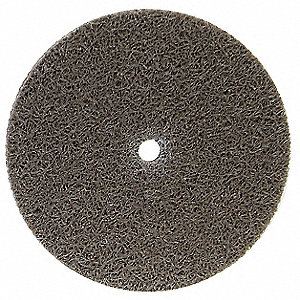 "3"" Light Deburring and Blending Unified Wheel, 1/4"" W, 1/4"" Mounting Size, Medium Aluminum Oxide"