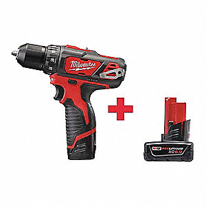 "M12 Li-Ion 3/8"" Cordless Drill/Driver Kit, Battery Included"