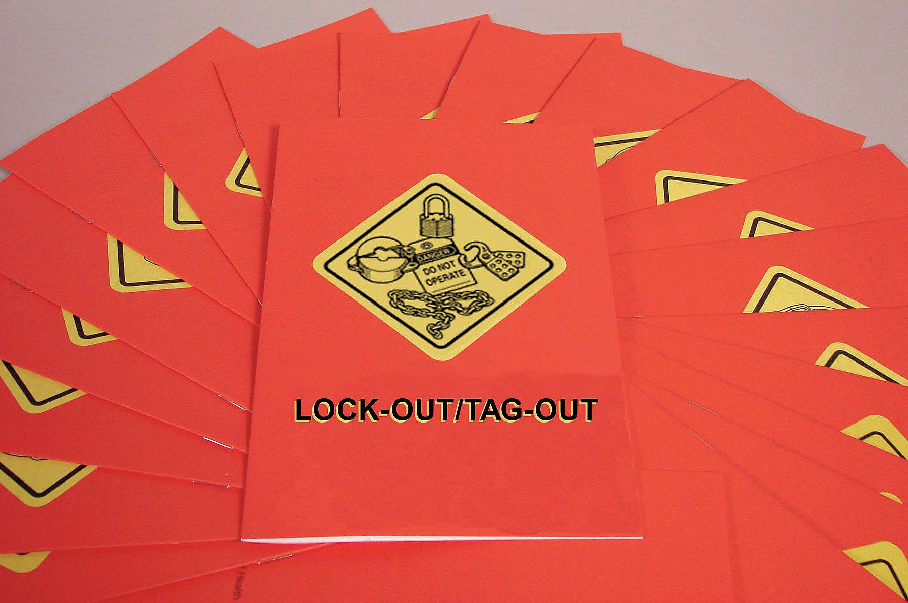 Book/Booklet,  Lockout Tagout,  English,  PK 15