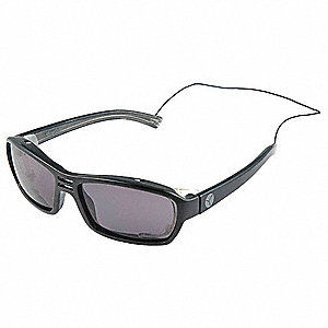 Safety Reader Glasses,Smoke,Uncoated