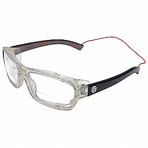 Clear Anti-Reflective Bifocal Safety Reading Glasses, +2.00 Diopter