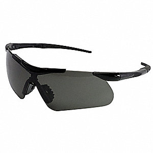Jackson Safety V60 Safeview Anti-Fog, Scratch-Resistant Safety Glasses, Smoke Lens Color