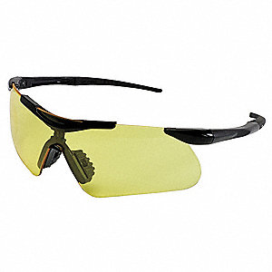 Jackson Safety V60 Safeview Anti-Fog, Scratch-Resistant Safety Glasses, Amber Lens Color