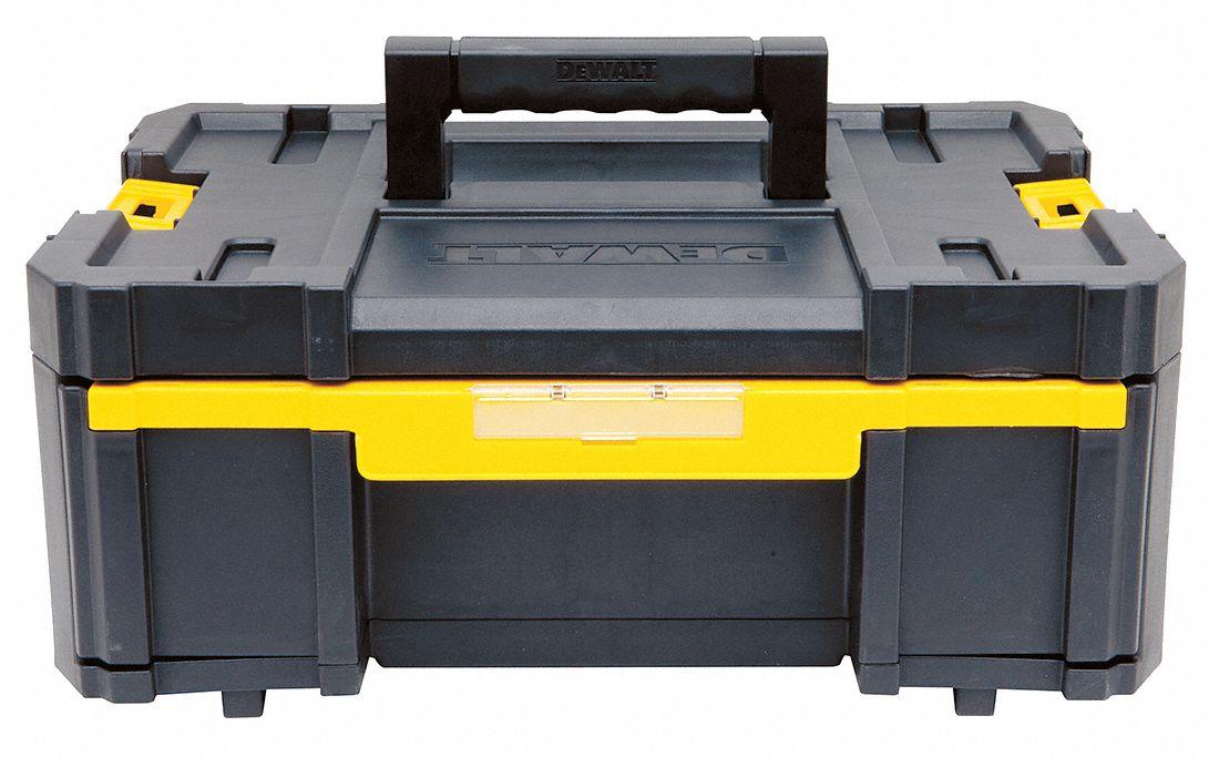"""dewalt plastic portable stackable tool box, 5""""h x 13""""w x 4-1/2""""d ..."""