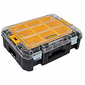 "Port Stackable Tool Box,13""Wx4-1/2""Dx5""H"