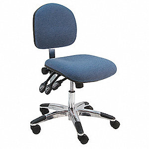 Blue Fabric Task Chair 13 1 2 Back Height Arm Style