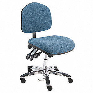 Ergonomic Chair,Fabric,Blue
