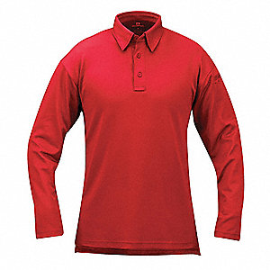 Tactical Polo,L,Long Sleeve,Red