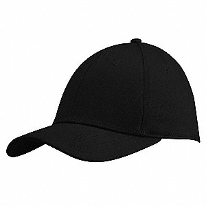 Baseball Hat,Wide Brim,Black,L/XL